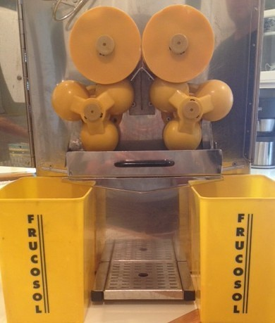 The inside of the Frucosol F-50 Juicer